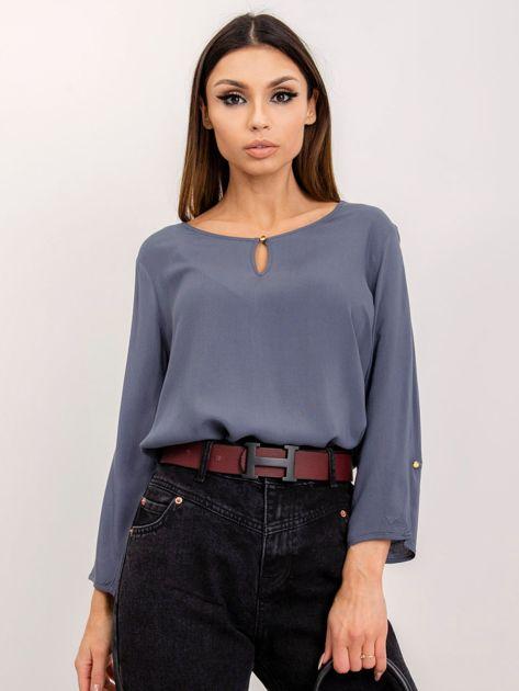 RUE PARIS Szaro-niebieska bluzka Gina