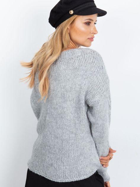 RUE PARIS Szary sweter Tiffany                              zdj.                              2