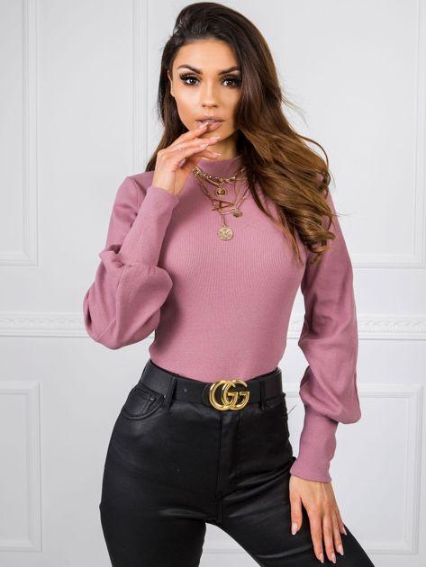 RUE PARIS Wrzosowa bluzka Lauren