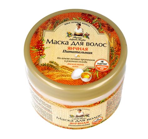 Receptury Babci Agafii Maska do włosów JAJECZNA odżywcza 300 ml