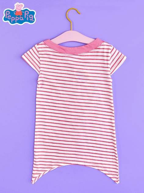 Różowa asymetryczna tunika dla dziewczynki ŚWINKA PEPPA                                  zdj.                                  2