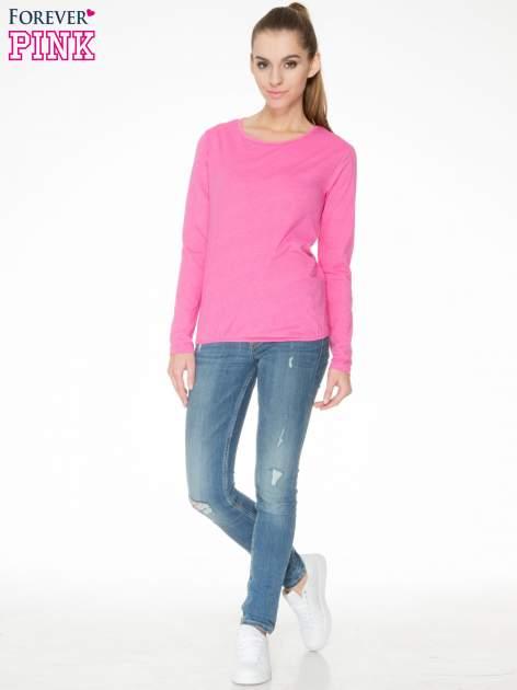 Różowa bawełniana bluzka z gumką na dole                                  zdj.                                  2