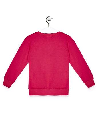 Różowa bluza dla dziewczynki z owieczką