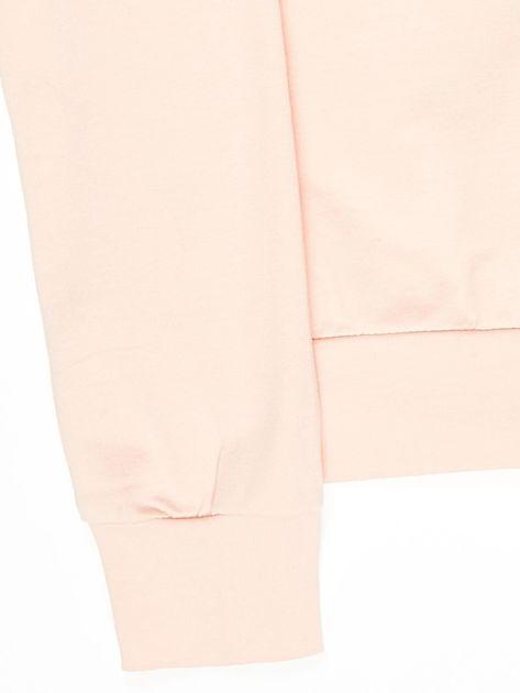 Różowa bluza młodzieżowa                              zdj.                              4