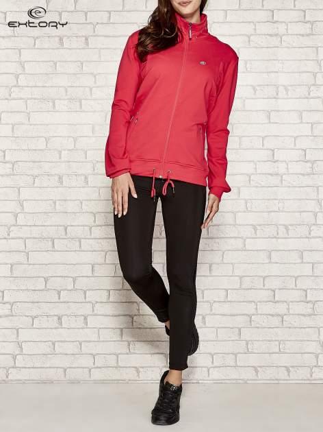Różowa bluza sportowa fitness ze wstawkami                                  zdj.                                  2