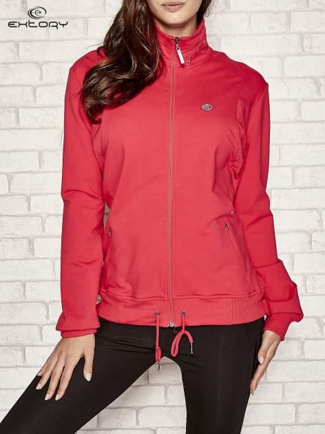 Różowa bluza sportowa fitness ze wstawkami                                  zdj.                                  1