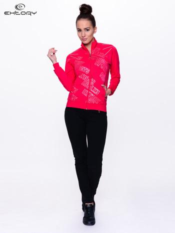 Różowa bluza sportowa z logo EXTORY                                  zdj.                                  2