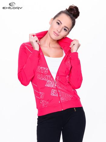 Różowa bluza sportowa z logo EXTORY