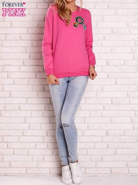 Różowa bluza z kolorowymi naszywkami                                  zdj.                                  4