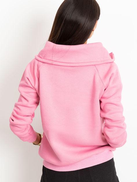 Różowa bluza z miękkim kołnierzem                              zdj.                              2