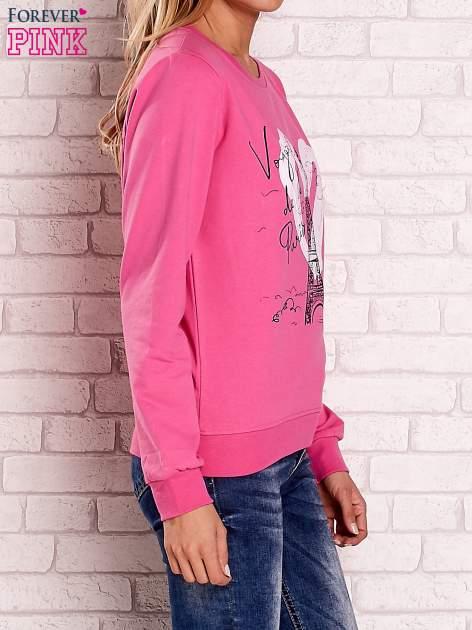 Różowa bluza z motywem paryskim                                  zdj.                                  3