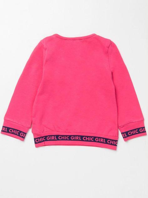 Różowa bluzka dla dziewczynki z perełkami                              zdj.                              3