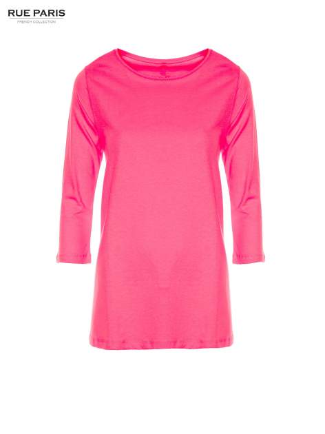 Różowa bluzka o rozkloszowanym kroju z rękawem 3/4                                  zdj.                                  5