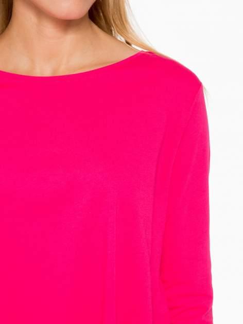 Różowa bluzka o rozkloszowanym kroju z rękawem 3/4                                  zdj.                                  6