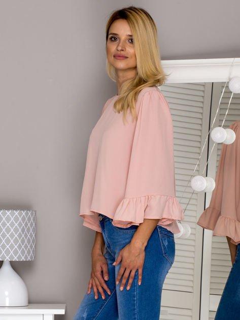 Różowa bluzka z szerokimi rękawami                                  zdj.                                  5