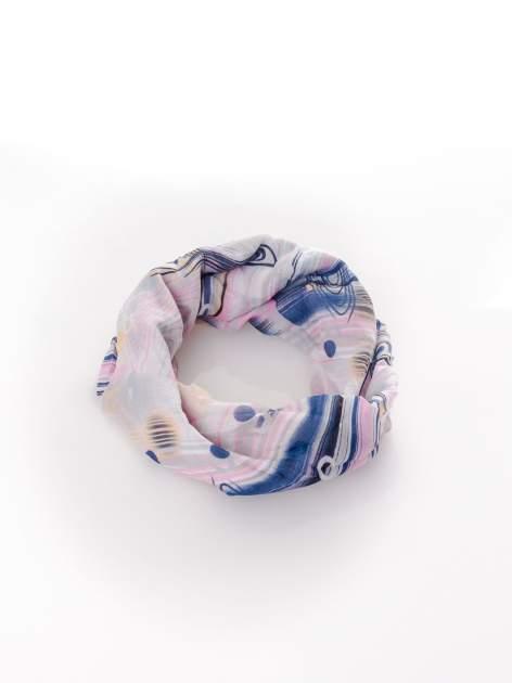 Różowa chusta w paski                                  zdj.                                  2