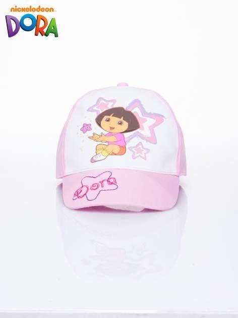 Różowa czapka z daszkiem dla dziewczynki DORA                                  zdj.                                  1