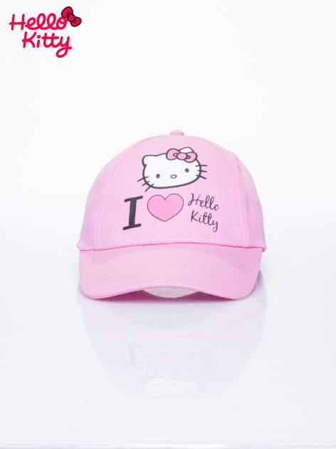 Różowa czapka z daszkiem dla dziewczynki z motywem HELLO KITTY