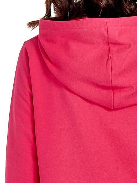Różowa damska bluza z kapturem i napisem SEATLE 1990                                  zdj.                                  8