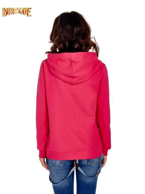 Różowa damska bluza z kapturem i napisem SEATLE 1990                                  zdj.                                  4