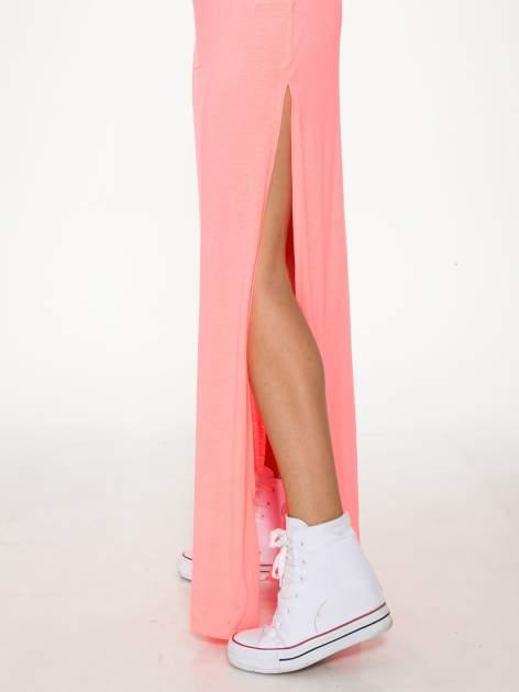 Różowa długa sukienka maxi z aplikacją z dżetów                                  zdj.                                  6