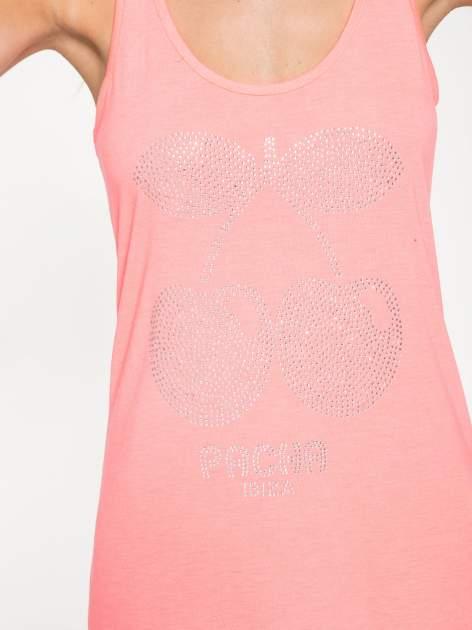 Różowa długa sukienka maxi z aplikacją z dżetów                                  zdj.                                  8