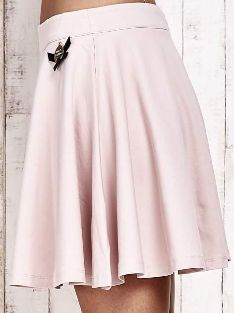 Różowa dresowa spódnica szyta z koła                                  zdj.                                  7