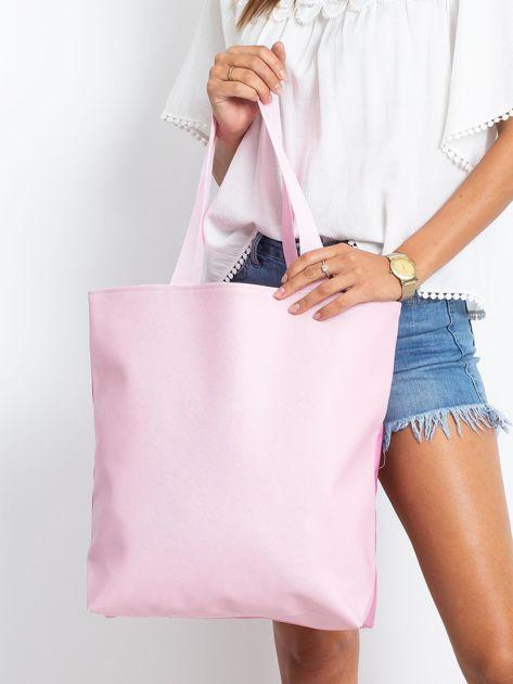 Różowa duża torba z jednorożcem                              zdj.                              2