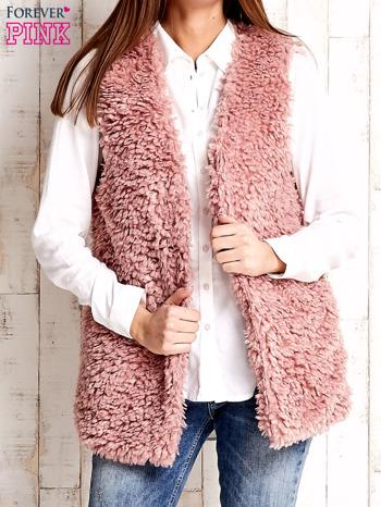 Różowa kamizelka fluffy                              zdj.                              5