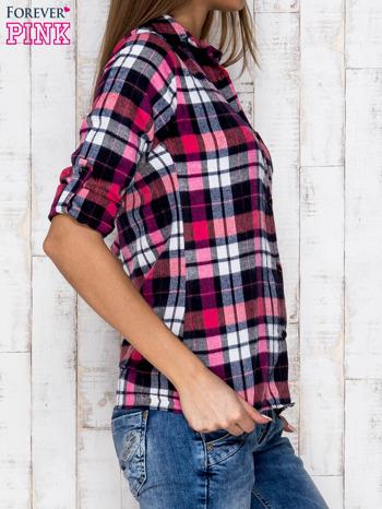 Różowa koszula w kratkę                              zdj.                              3