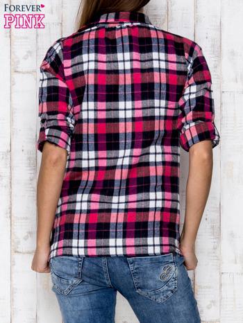 Różowa koszula w kratkę                              zdj.                              4
