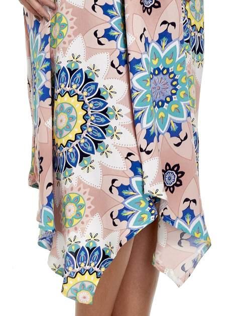 Rożowa letnia sukienka w kwiaty                                  zdj.                                  6