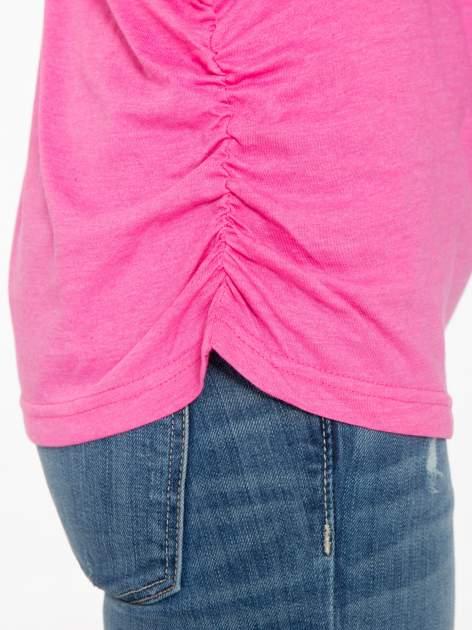 Różowa luźna bluzka z rękawem 3/4                                  zdj.                                  7