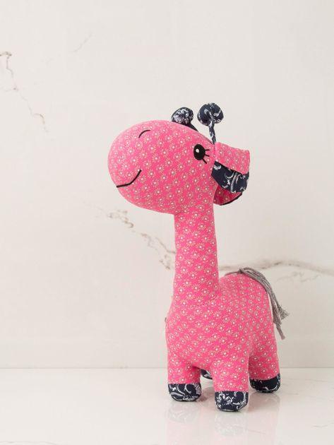 Różowa maskotka dziecięca Żyrafka                              zdj.                              1