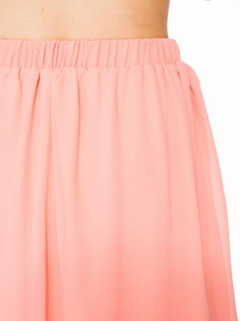 Różowa mini spódnica zapinana z przodu  na rząd guzików                                  zdj.                                  6