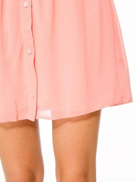 Różowa mini spódnica zapinana z przodu  na rząd guzików                                  zdj.                                  10