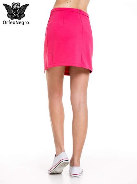 Różowa minispódnica z asymetrycznym suwakiem                                  zdj.                                  3