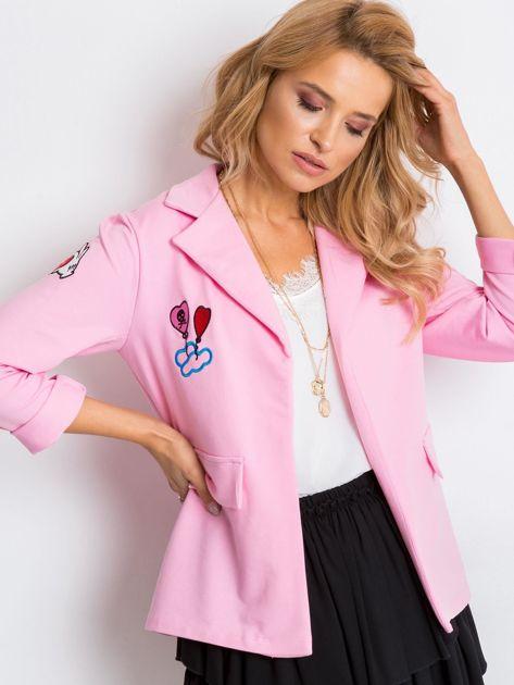 Różowa narzutka Shay