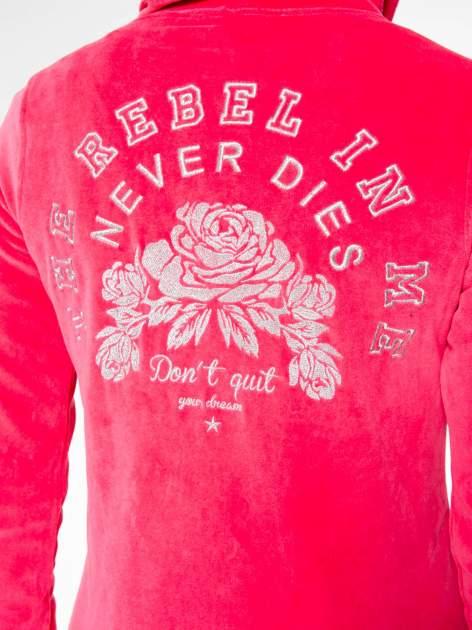 Różowa pluszowa bluza z kapturem zasuwana na suwak                                  zdj.                                  10