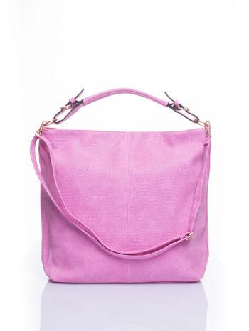 Różowa siateczkowa torba hobo