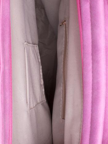 Różowa siateczkowa torba hobo                                  zdj.                                  5