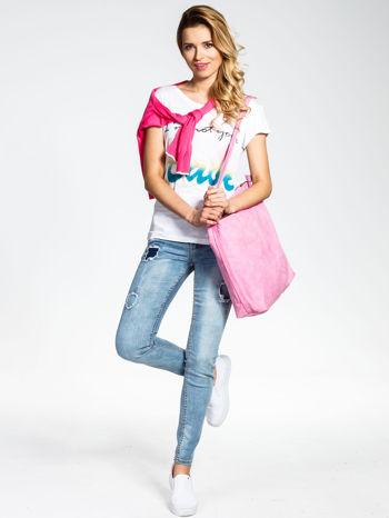 Różowa siateczkowa torba hobo                                  zdj.                                  6