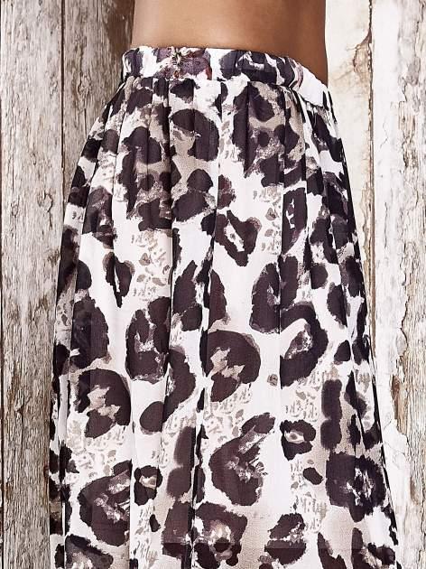 Różowa spódnica maxi we wzór panterkowokwiatowy                                  zdj.                                  5