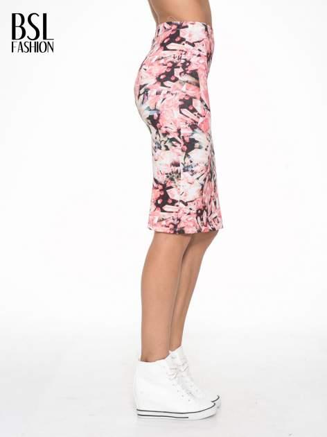 Różowa spódnica ołówkowa z nadrukiem diamond print                                  zdj.                                  3