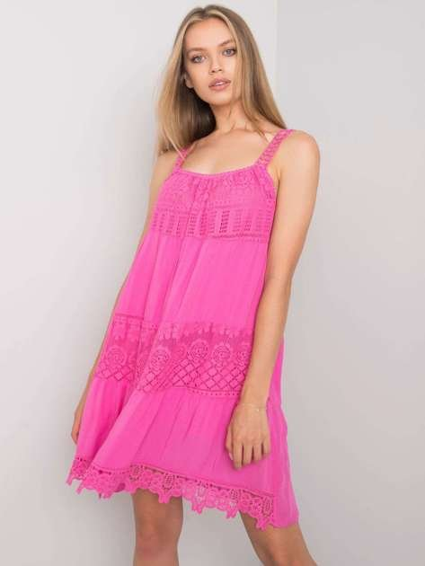 Różowa sukienka Eunice OCH BELLA