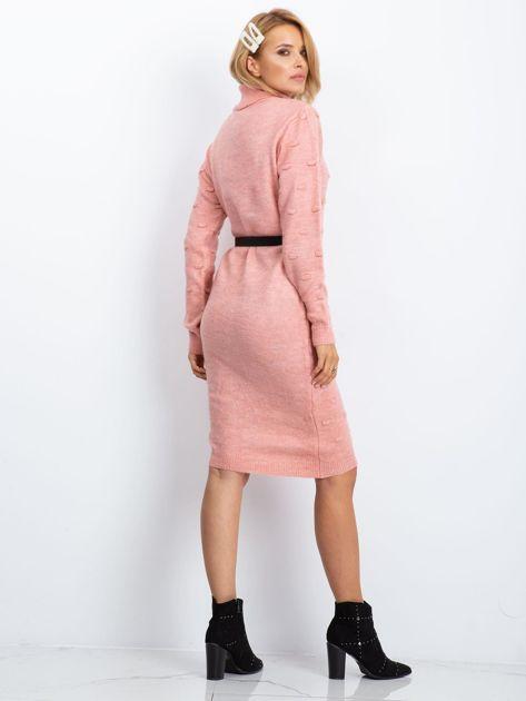 Różowa sukienka Silky                              zdj.                              2