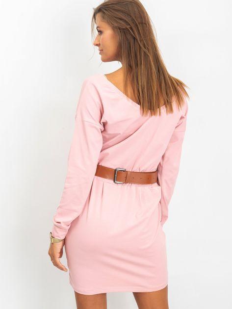 Różowa sukienka Simple                              zdj.                              2
