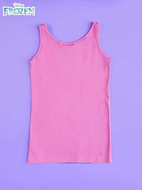 Różowa sukienka dla dziewczynki bez rękawów KRAINA LODU                                  zdj.                                  2