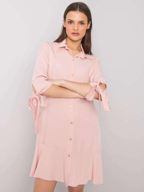 Różowa sukienka na co dzień Adelasia