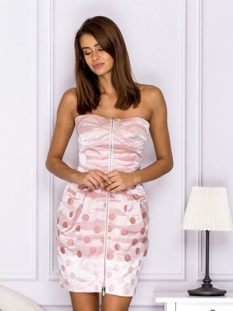 Różowa sukienka w grochy                               zdj.                              1